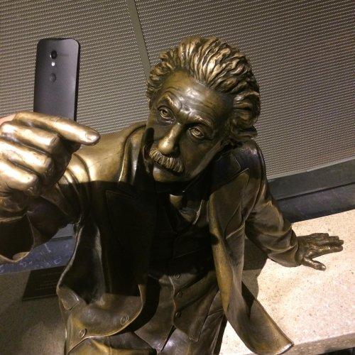 Einstein takes a selfie